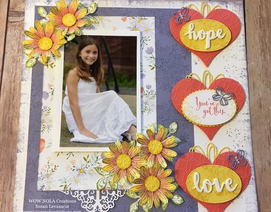 Hope and Love Scrapbook Layout