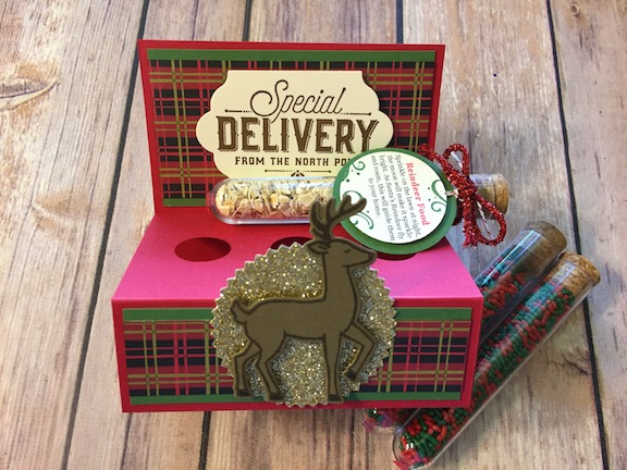 reindeer food, treat, Santa, special delivery, merry little labels, Santa's sleigh