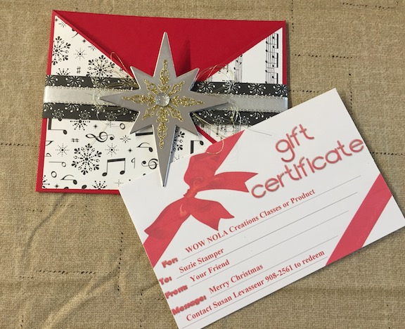WOW Quick & Easy Christmas Gift Certificates