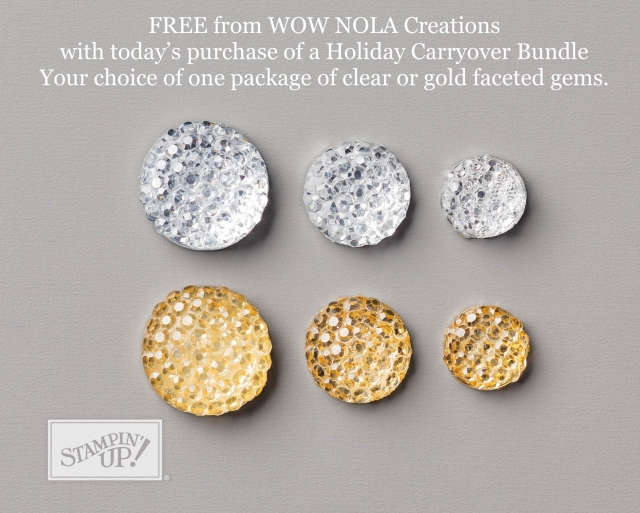 WOW NOLA Creations, Susan Levasseur, Holiday Catalog Carryover Promotion,