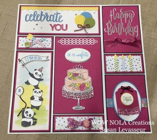 Susan Levasseur, WOW NOLA Creations, Cake Soiree Birthday Sampler, Party Pandas, Picture Perfect Birthday