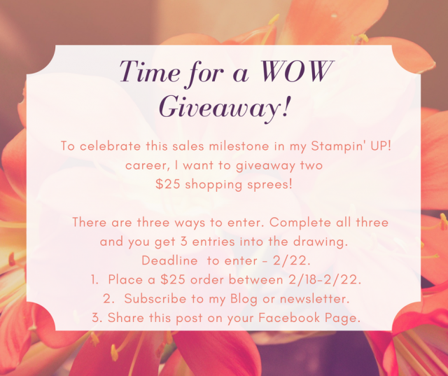WOW NOLA Creations, Susan Levasseur, Stampin' UP!, Giveaway Announcement