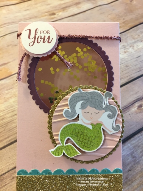 WOW NOLA Creations, Susan Levasseur, Stampin' Up!, Mermaid from Myths & Magic