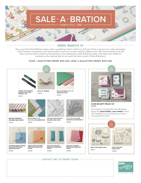 Susan Levasseur, WOW NOLA Creations, Stampin' Up!, Sale-a-Bration