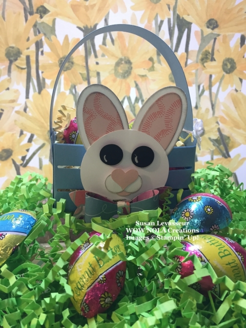 Susan Levasseur, WOW NOLA Creations, Stampin' Up!, Wood Crate Easter Treat