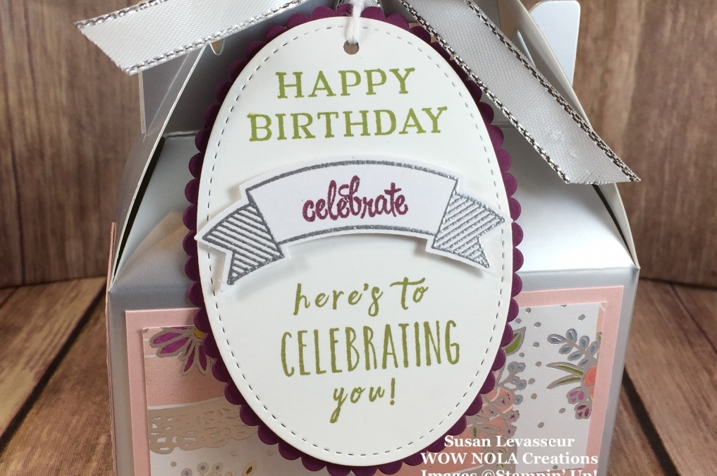 Silver Gable Boxes Happy Birthday Style