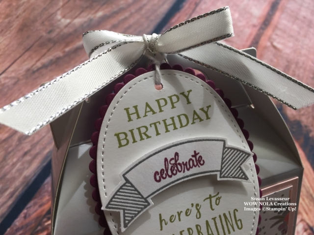 Susan Levasseur, WOW NOLA Creations, Silver Gable Boxes, Stampin' UP!