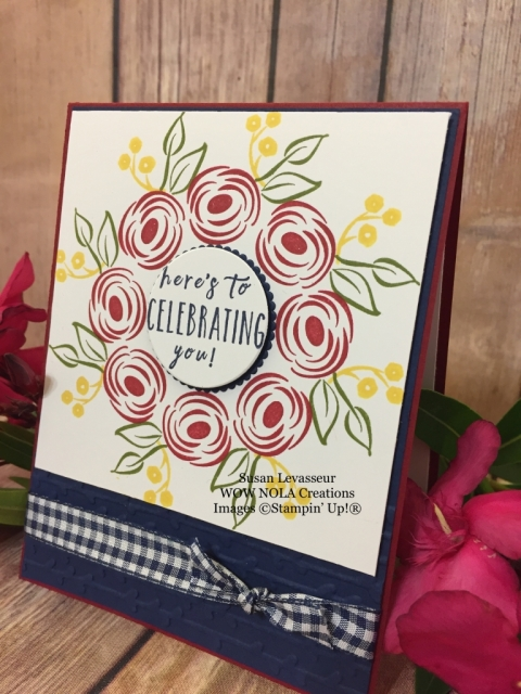 Susan Levasseur, WOW NOLA Creations, Wreath Card, Stamparatus, Stampin' Up!