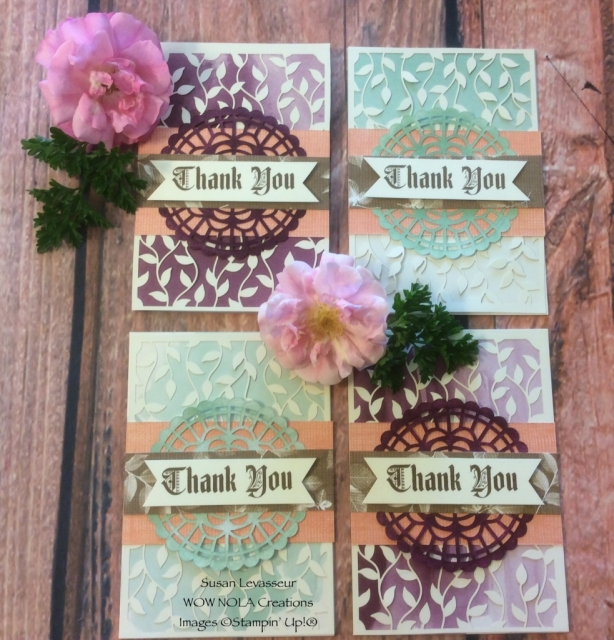Susan Levasseur, WOW NOLA Creations, Delightfully Detailed Note Card Set, Stampin' Up!