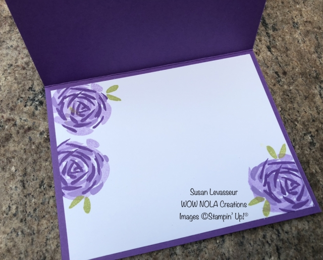 Susan Levasseur, WOW NOLA Creations, Abstract Impressions, Thank You, Stampin' Up!