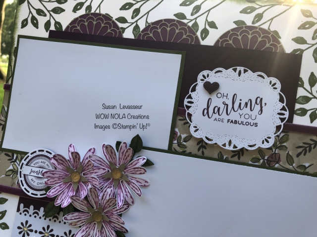 Susan Levasseur, WOW NOLA Creations, Scrapbook Layout, Oh Darling You are Fabulous