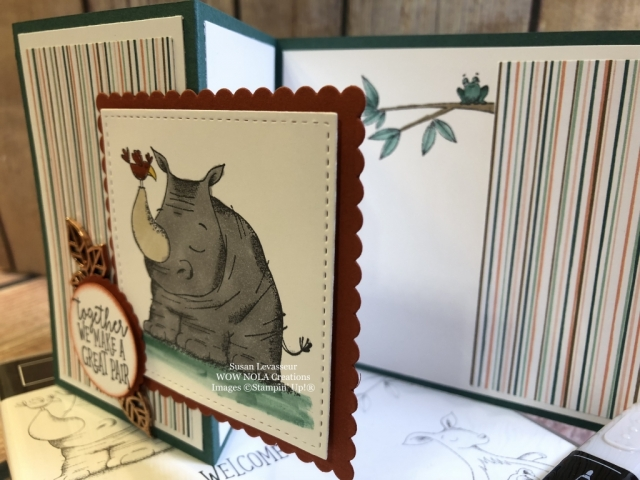Susan Levasseur, WOW NOLA Creations, Animal Outing Z-Fold, Stampin' Blends