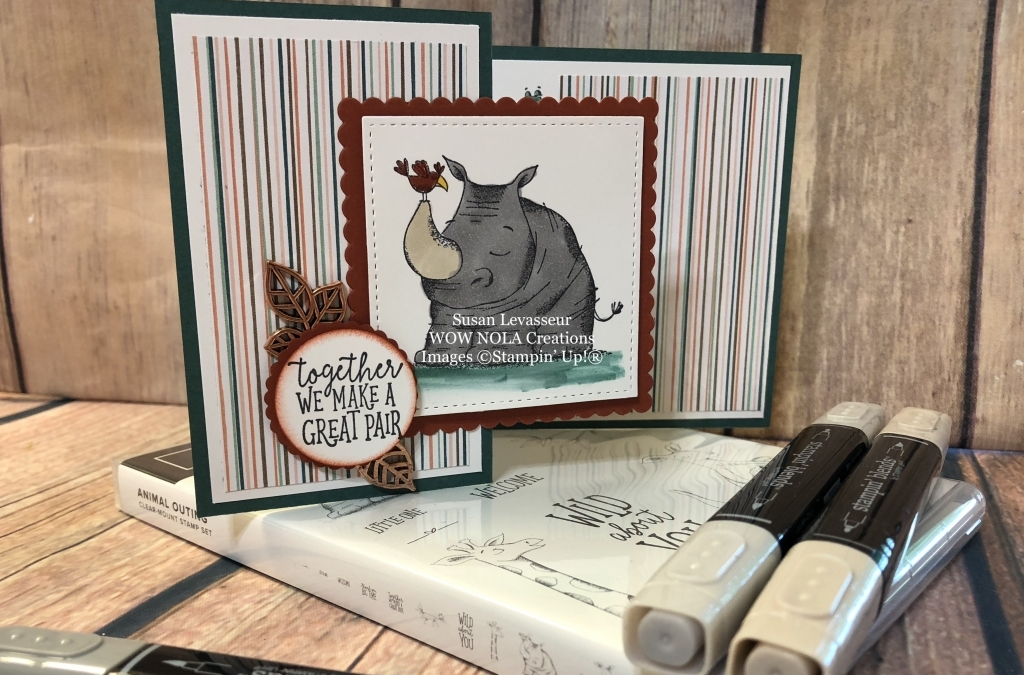 Animal Outing Stampin' Blends Z-Fold