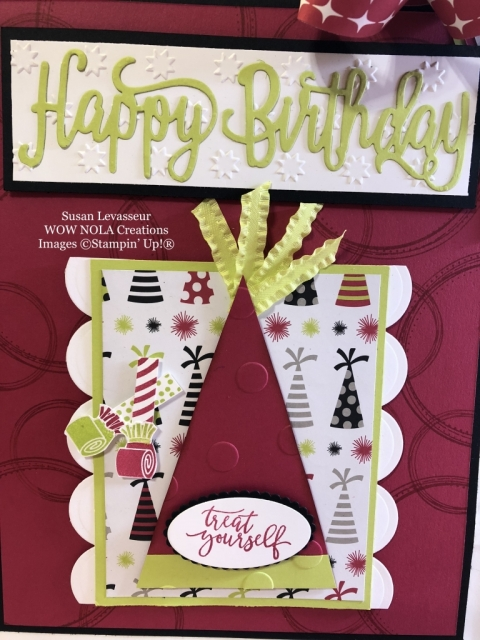 Susan Levasseur, WOW NOLA Creations, Birthday Gift Bag, Stampin' Up!