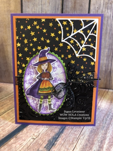 Susan Levasseur, WOW NOLA Creations, Halloween Toil & Trouble, Stampin' Up!