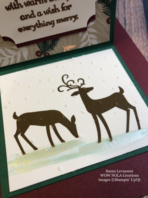Susan Levasseur, WOW NOLA Creations, Copper Shimmer Paint Technique, Dashing Deer, Stampin' Up!