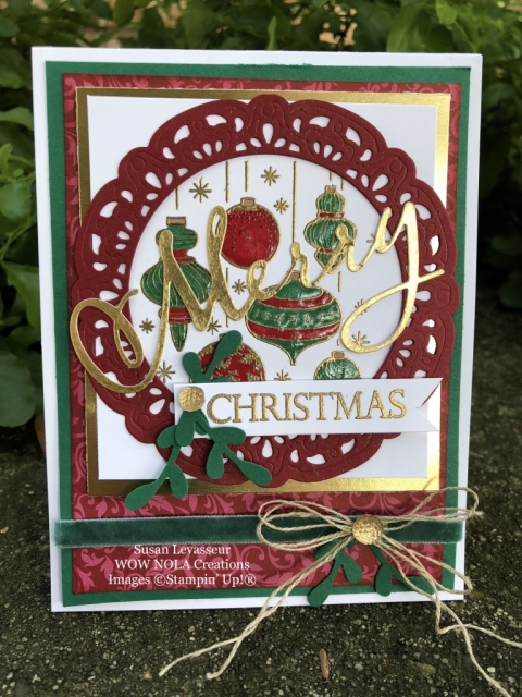 Susan Levasseur, WOW NOLA Creations, Beautiful Baubles Christmas Card