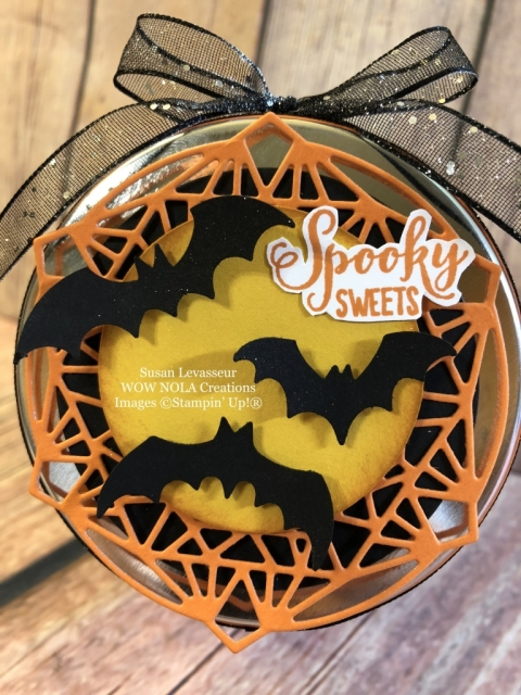 Susan Levasseur, WOW NOLA Creations, Halloween Spooky Sweets Candy Jars, Stampin' Up!