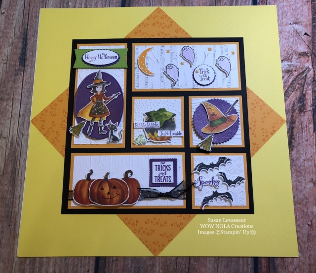 Susan Levasseur, WOW NOLA Creations, Halloween Sampler, Toil & Trouble, Stampin' Up!