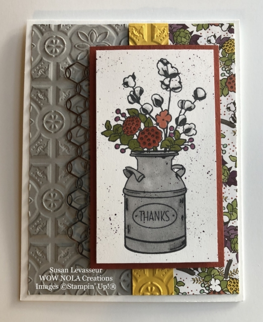 Susan Levasseur, WOW NOLA Creations, Country Home, Stampin' Up!
