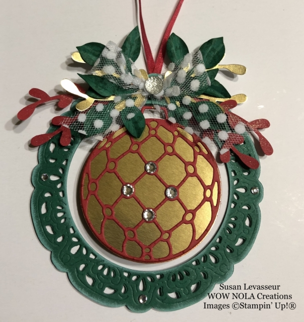 Susan Levasseur, WOW NOLA Creations, Community Service Project, Detailed Baubles Ornament
