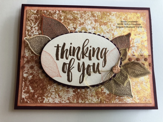 Susan Levasseur, WOW NOLA Creations, Rooted in Nature, Shimmer Paint, Stampin' Up!