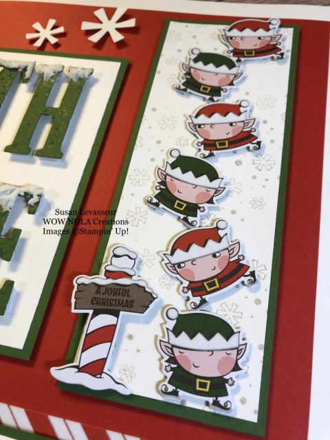 Susan Levasseur, WOW NOLA Creations, Signs of Santa, Stampin' Up!