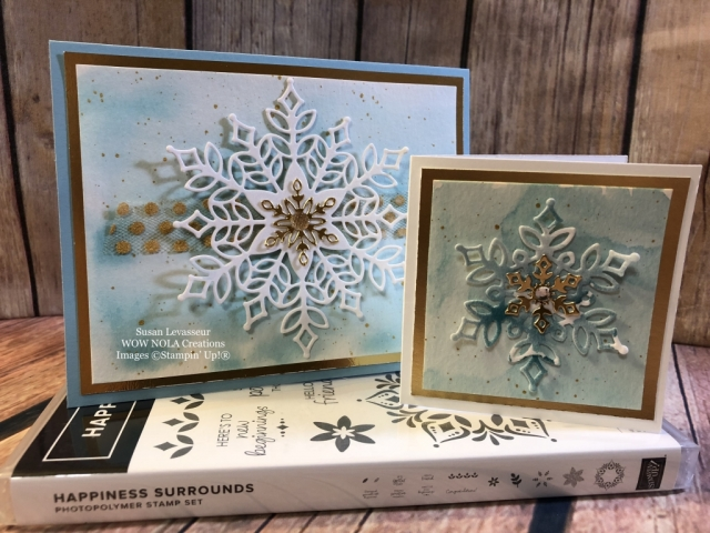 Susan Levasseur, WOW NOLA Creations, Happiness Surrounds, Stampin' Up!