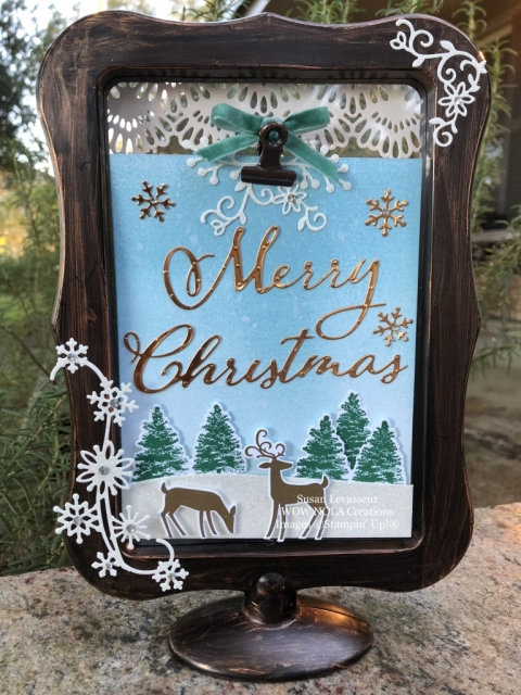 Susan Levasseur, WOW NOLA Creations, Christmas Display Frame, Stampin' Up!