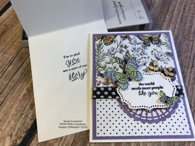 Susan Levasseur, WOW NOLA Creations, Butterfly Gala, Stampin' Up!