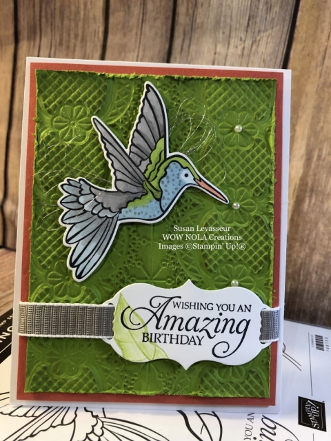 Susan Levasseur, WOW NOLA Creations, Humming Along, Stampin' Up!
