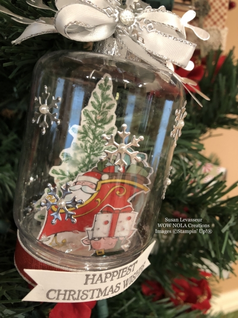 Susan Levasseur, WOW NOLA Creations, Christmas Keepsake Ornament, Stampin' Up!