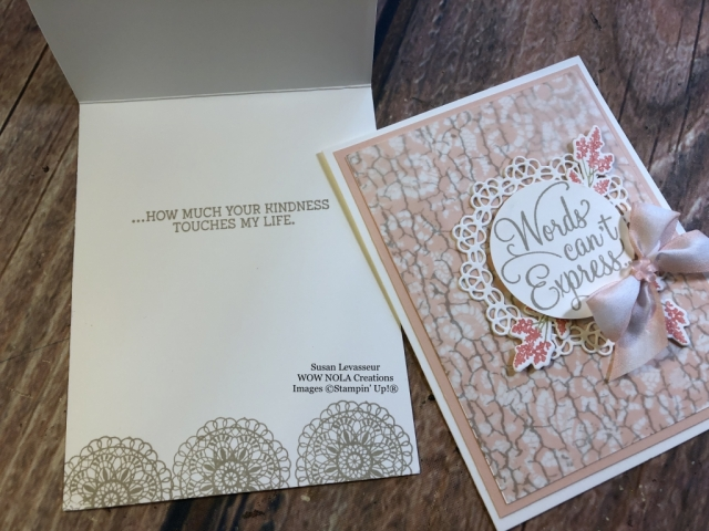 Susan Levasseur, WOW NOLA Creations, Dear Doily Bundle, Stampin' Up!