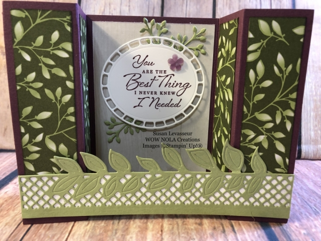 Susan Levasseur, WOW NOLA Creations, Wonderful Romance Bridge Fold, Stampin' Up!