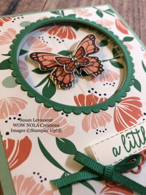 Susan Levasseur, WOW NOLA Creations, Butterfly Gala Spinner, Stampin' Up!