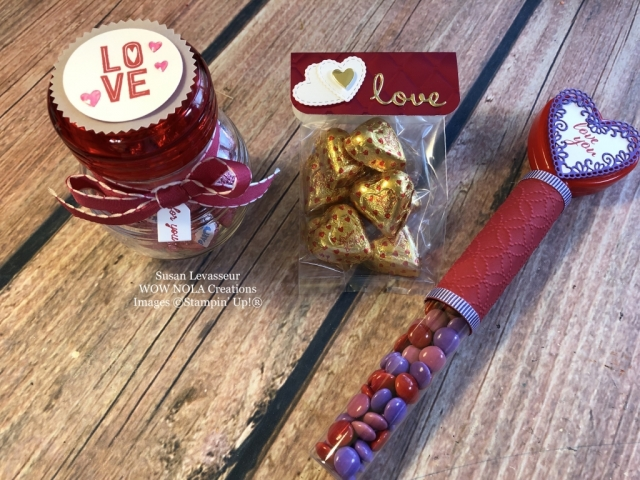 Susan Levasseur, WOW NOLA Creations, Valentine Treats, Stampin' Up!