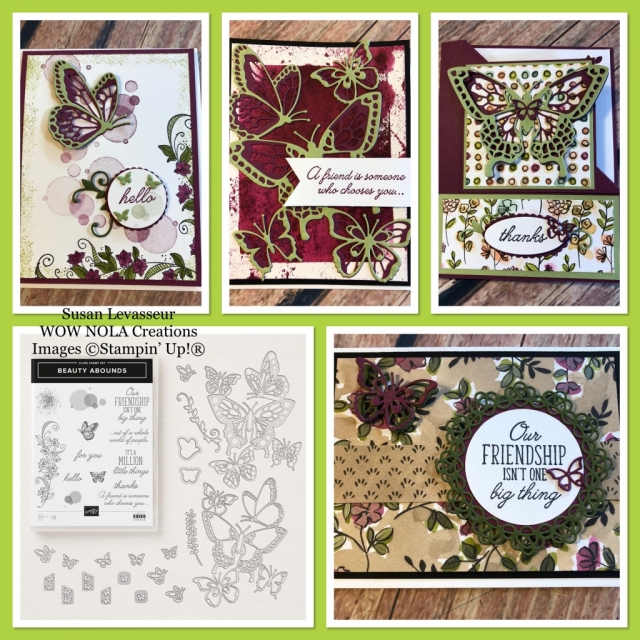 Susan Levasseur, WOW NOLA Creations, Beauty Abounds, Stampin' Up!, WOW Class to GO!