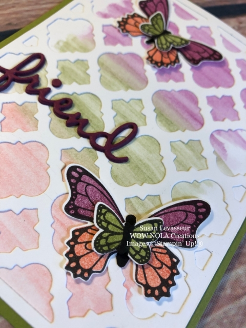 Susan Levasseur, WOW NOLA Creations, Florentine Thinlit, Stampin' Up!