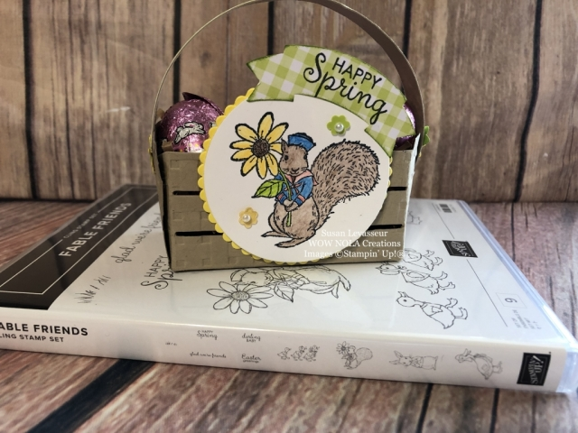 Susan Levasseur, WOW NOLA Creations, Easter Happy, Fable Friends, Stampin' Up!