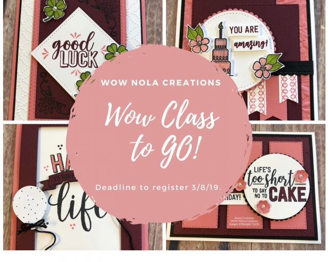 Susan Levasseur, WOW NOLA Creations, Amazing Life, March 2019 WOW Class to GO!