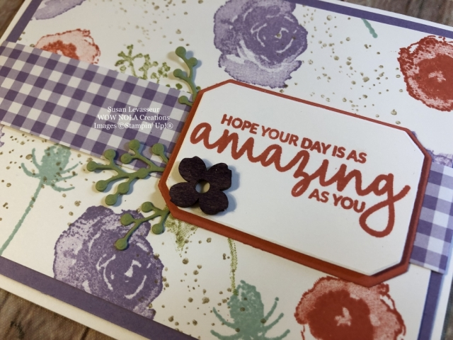 Susan Levasseur, WOW NOLA Creations, One Sheet Wonder, First Frost, Stampin' Up!