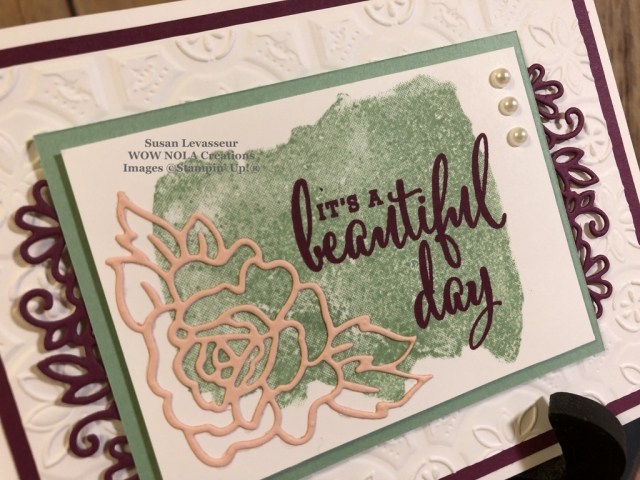 Susan Levasseur, WOW NOLA Creations, Swiper Fun Fold, Stampin' Up!