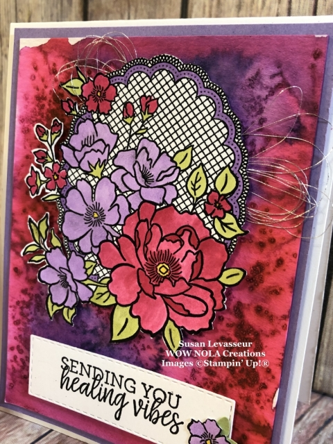 Susan Levasseur, WOW NOLA Creations, Lovely Lattice, Salt Technique, Stampin' Up!