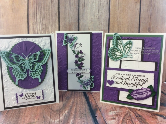 Susan Levasseur, WOW NOLA Creations, Amazing Gift Bag Alternative Cards, Stampin' Up!