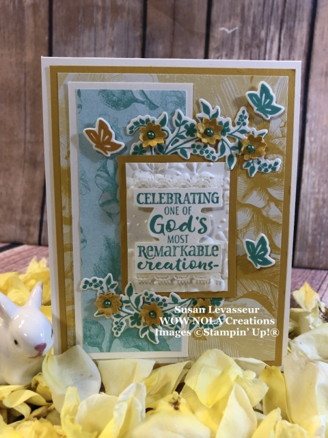 Susan Levasseur, WOW NOLA Creations, Hold on to Hope Encouragement Card, Stampin' Up!