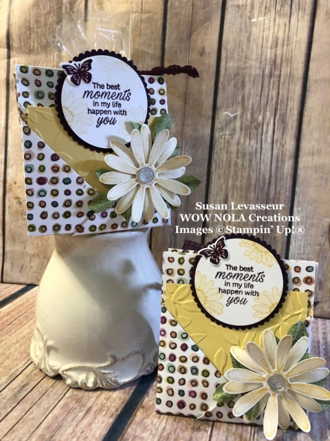 Susan Levasseur, WOW NOLA Creations, Cookies and Tea Treat Holder, Daisy Lane, Stampin' Up!