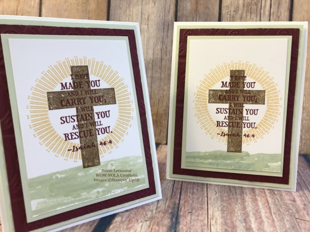 Susan Levasseur, WOW NOLA Creations, Easter Card, Hold on to Hope, Stampin' Up!
