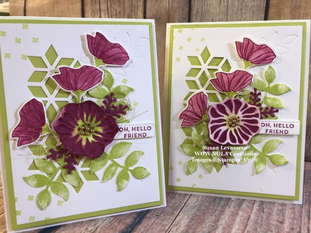 Susan Levasseur, WOW NOLA Creations, Oh So Eclectic Technique Card, Stampin' Up!