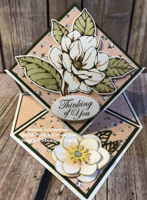 Susan Levasseur, WOW NOLA Creations, Diamond Easel Fold, Good Morning Magnolia, Stampin' Up!