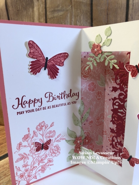 Susan Levasseur, WOW NOLA Creations, Inside Pop Up Card, Stampin' Up!